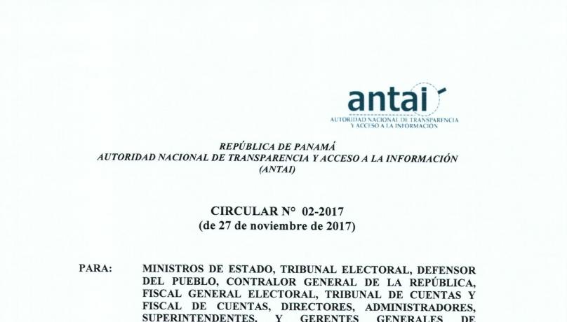 COMUNICADO DEL ANTAI