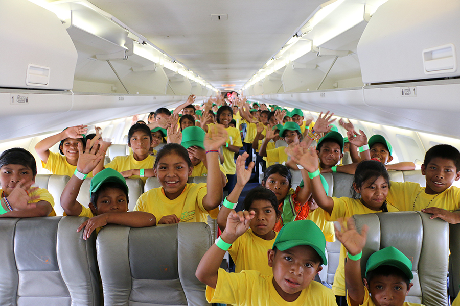 Niños de las Escuelas de Ñurum y Cañaza nos visitan